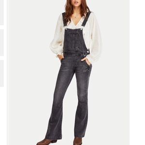 NWT Free People Carly Flared Overalls